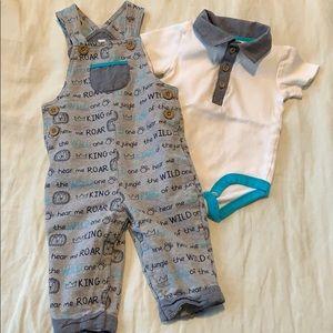 Bodysuit and overalls set